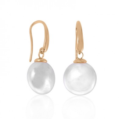 Majorica earrings Lyra Silver and Pearl